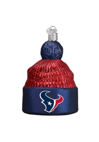 Houston Texans Beanie Glass Ornament