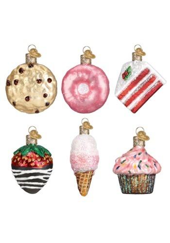 6 Piece Miniature Dessert Glass Ornament Set