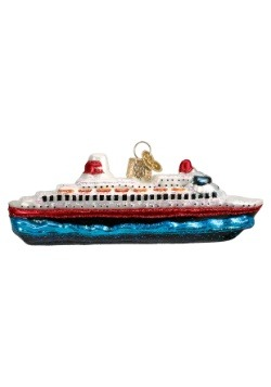 Cruise Ship Glass Ornament