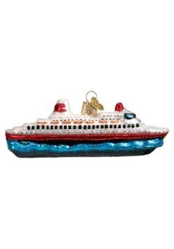 Cruise Ship Glass Ornament