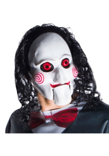 Jigsaw Billy Mask With Hair For Adults