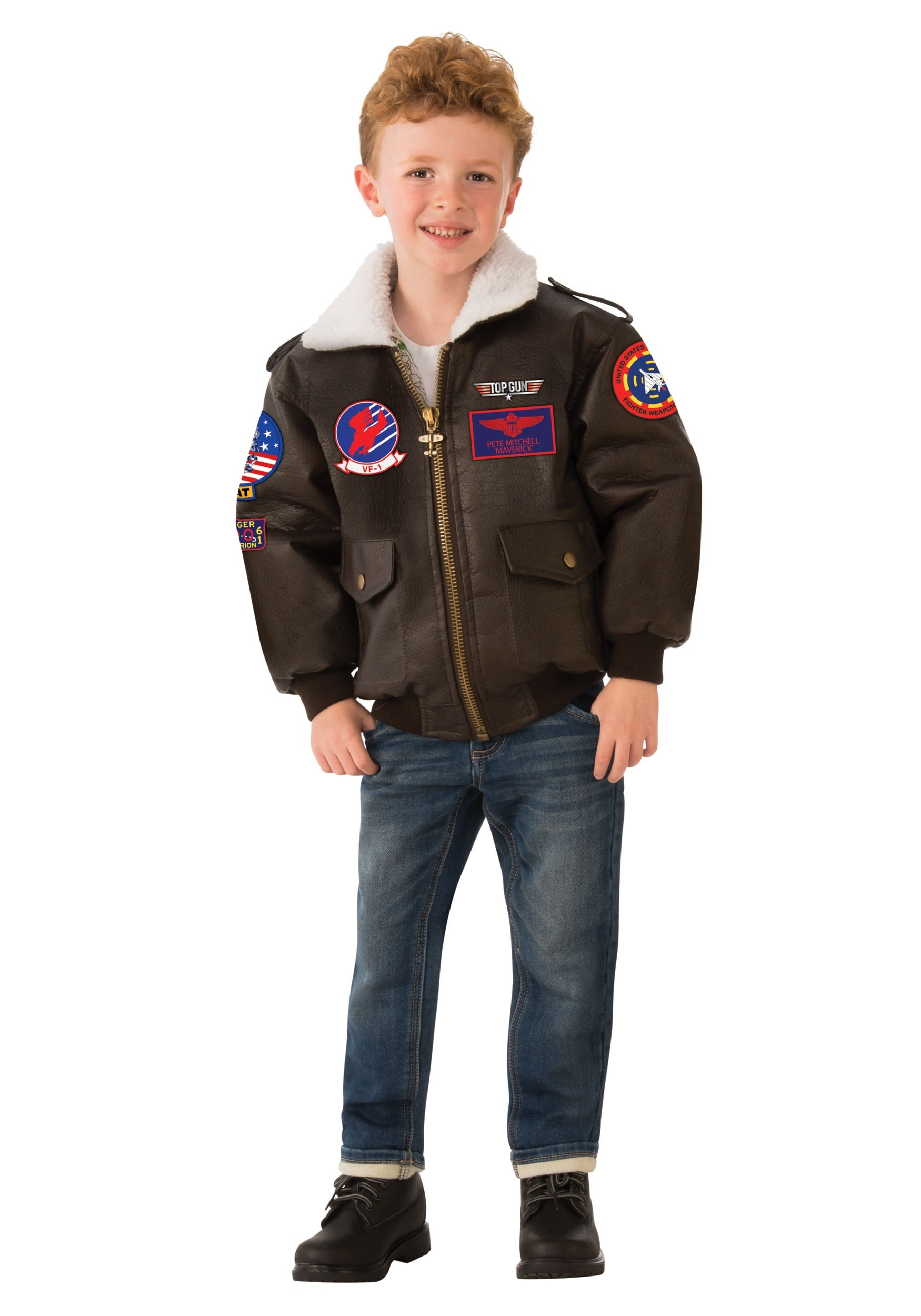Boy's Top Gun Bomber Jacket Costume