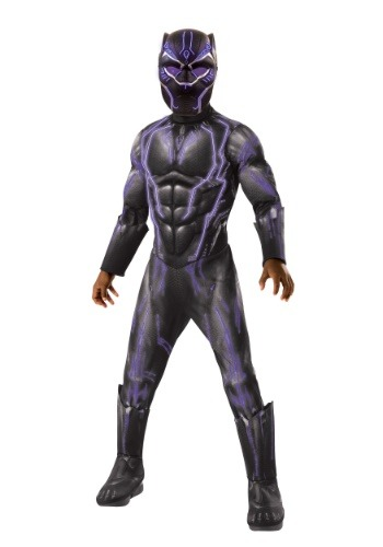 Child Light Up Black Panther Costume