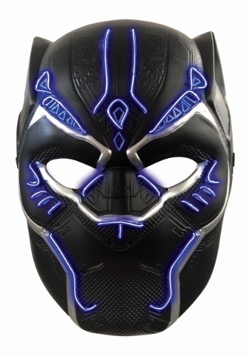 Child Light Up Black Panther Mask
