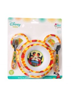 Mickey Mouse 4-Piece Feeding Set