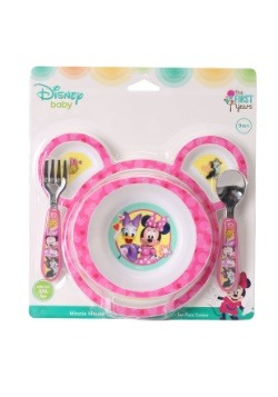 Minnie Mouse 4-Piece Feeding Set