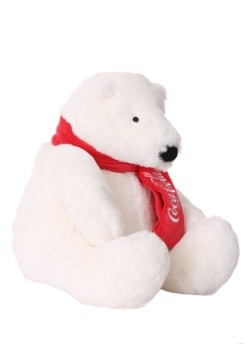 "Coca Cola 12"" Stuffed Bear"