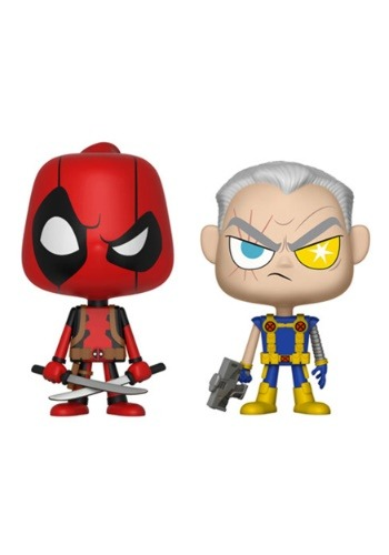 Vynl: Marvel Comics- Deadpool & Cable Bobblehead Figures
