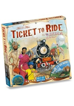 Ticket to Ride: India Board Game Expansion