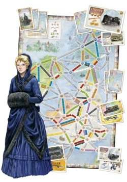 Ticket to Ride: United Kingdom Board Game Expansion Board