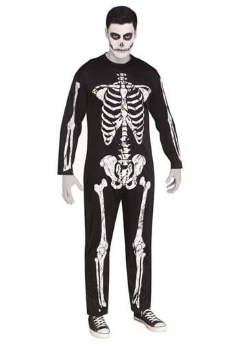 Men's Skeleton Jumpsuit Costume