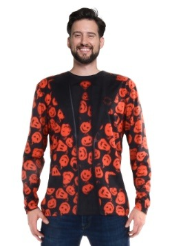 SNL David S Pumpkins Long Sleeve Suit Costume Tee Main