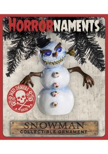 Horrornaments Snowman Molded Ornament