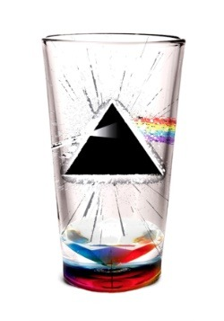 Pink Floyd Paintsplatter Dark Side Glass
