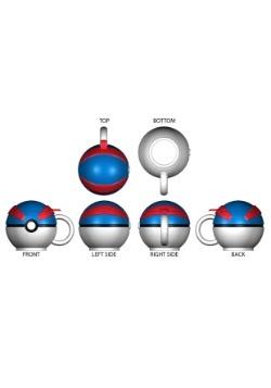 Pokemon Great Ball Molded Coffee Mug