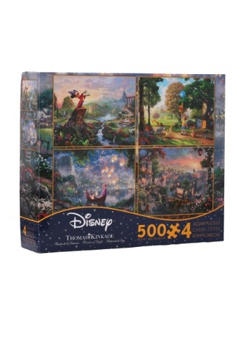 4- 500 piece Thomas Kinkade Disney Dreams Collection