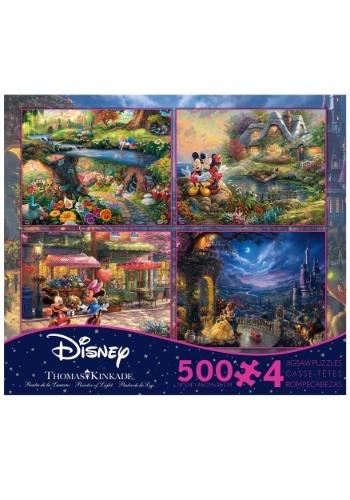 4- 500 piece Thomas Kinkade Disney Dreams Collection