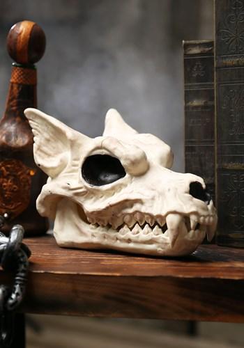"""Wolf Skull 7"""" Halloween Decoration"""