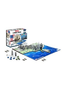4D Cityscape Chicago, USA Time Jigsaw Puzzle
