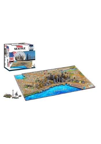 4D Cityscape Seattle, USA Time Puzzle