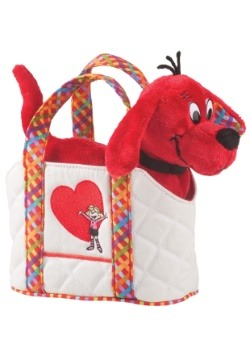 "Clifford Plush in Carrying Tote - 8"" wide"