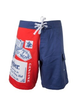 Men's Budweiser Swim Trunks