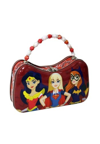 DC Super Hero Girls Tin Purse w/ Beaded Handle