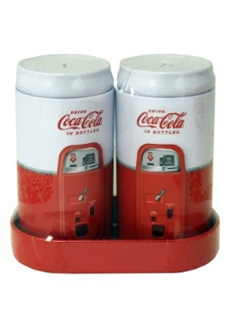 Coca-Cola Embossed Salt & Pepper Shaker Set