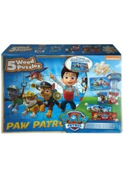 Paw Patrol 5pk Wood Jigsaw Puzzle Set
