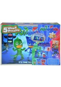 PJ Masks 5pk Wood Puzzle