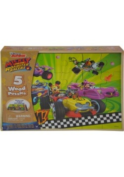 Mickey Mouse Roadsters 5pk Wood Puzzle