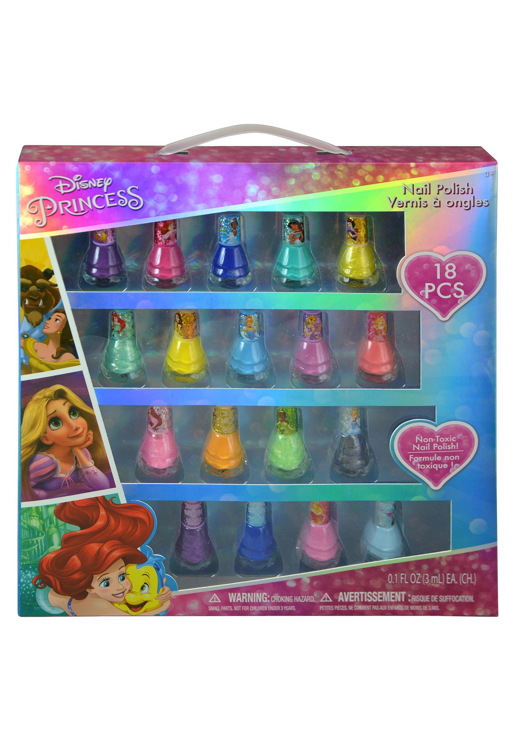 18 Piece Disney Princess Nail Polish Kit