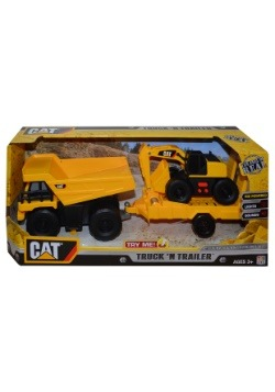 CAT Push Powered Truck N Trailer Toy