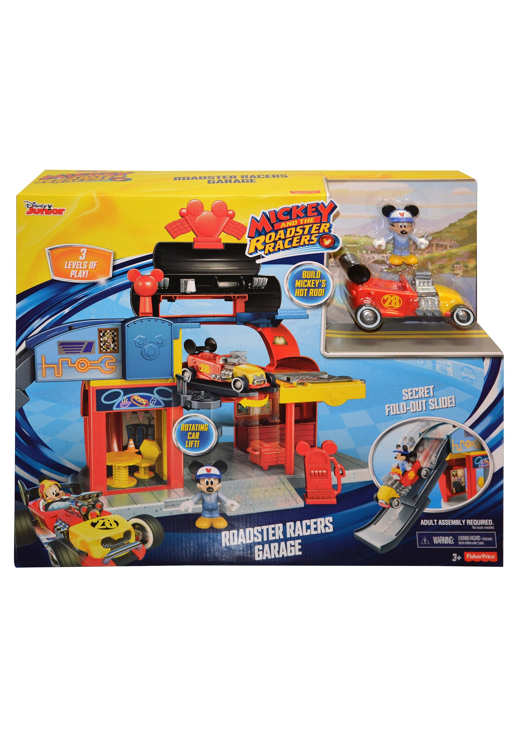 3711683de762 Mickey Mouse Roadster Racers Garage Play Set