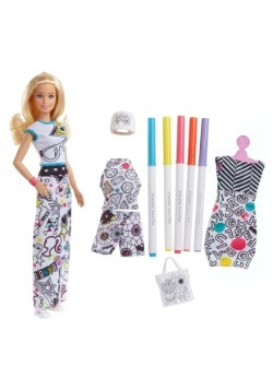 Barbie Crayola Color In Fashion Doll