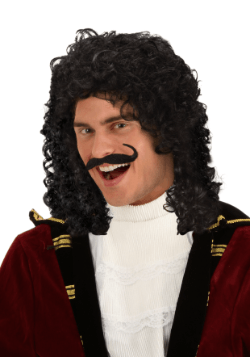 Adult Captain Hook Costume Wig