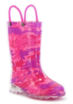 Glitter Horse Lighted Child Rainboot