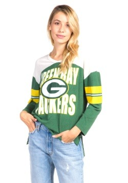 Women's Green Bay Packers Throwback Football Tee