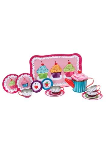 Cupcakes Tin Tea Set