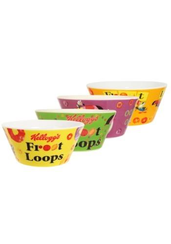 4pc Kelloggs Froot Loops  Bowl Set