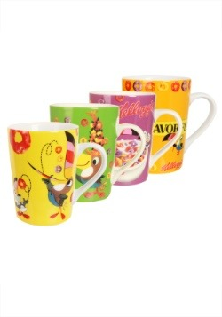 4pc Kelloggs Froot Loops Mug Set