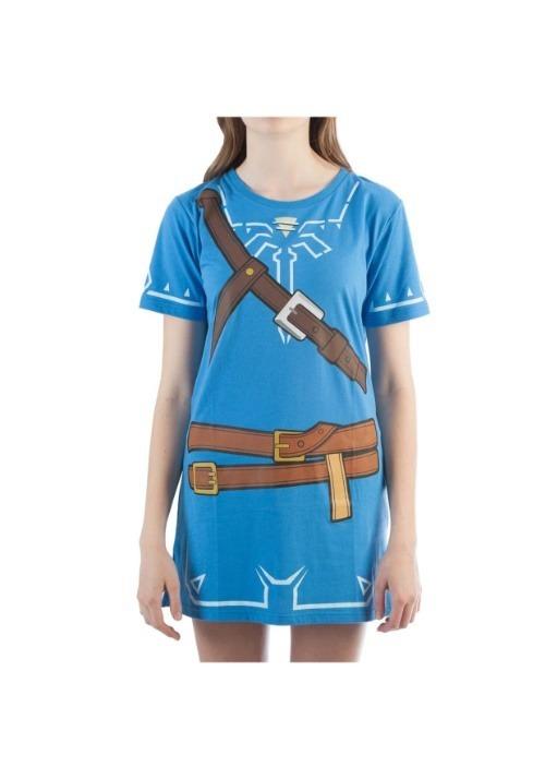 Womens Breath of the Wild Zelda Link Cosplay Tunic
