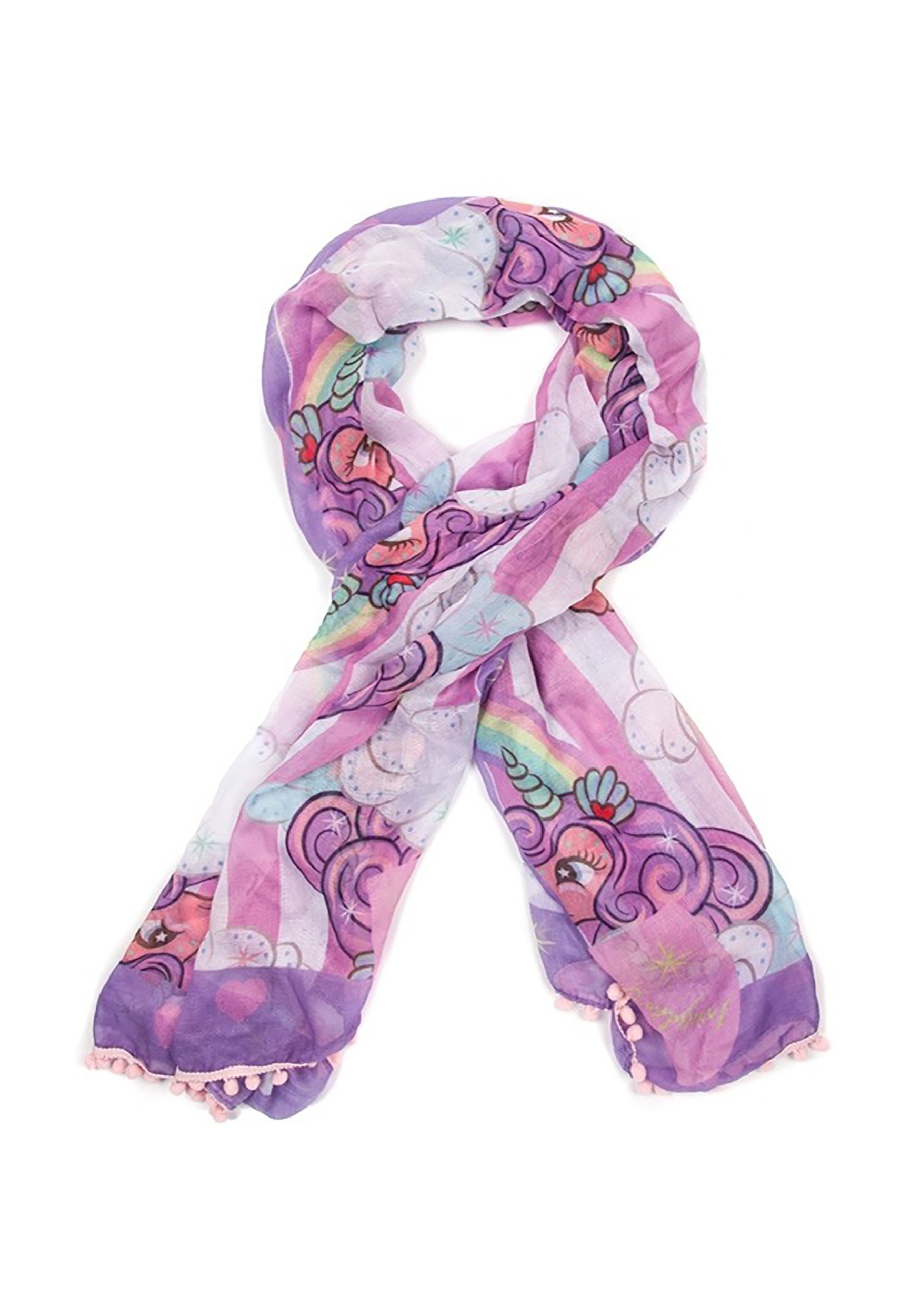 Rainbow Lightweight Scarf Irregular Choice Unicorn