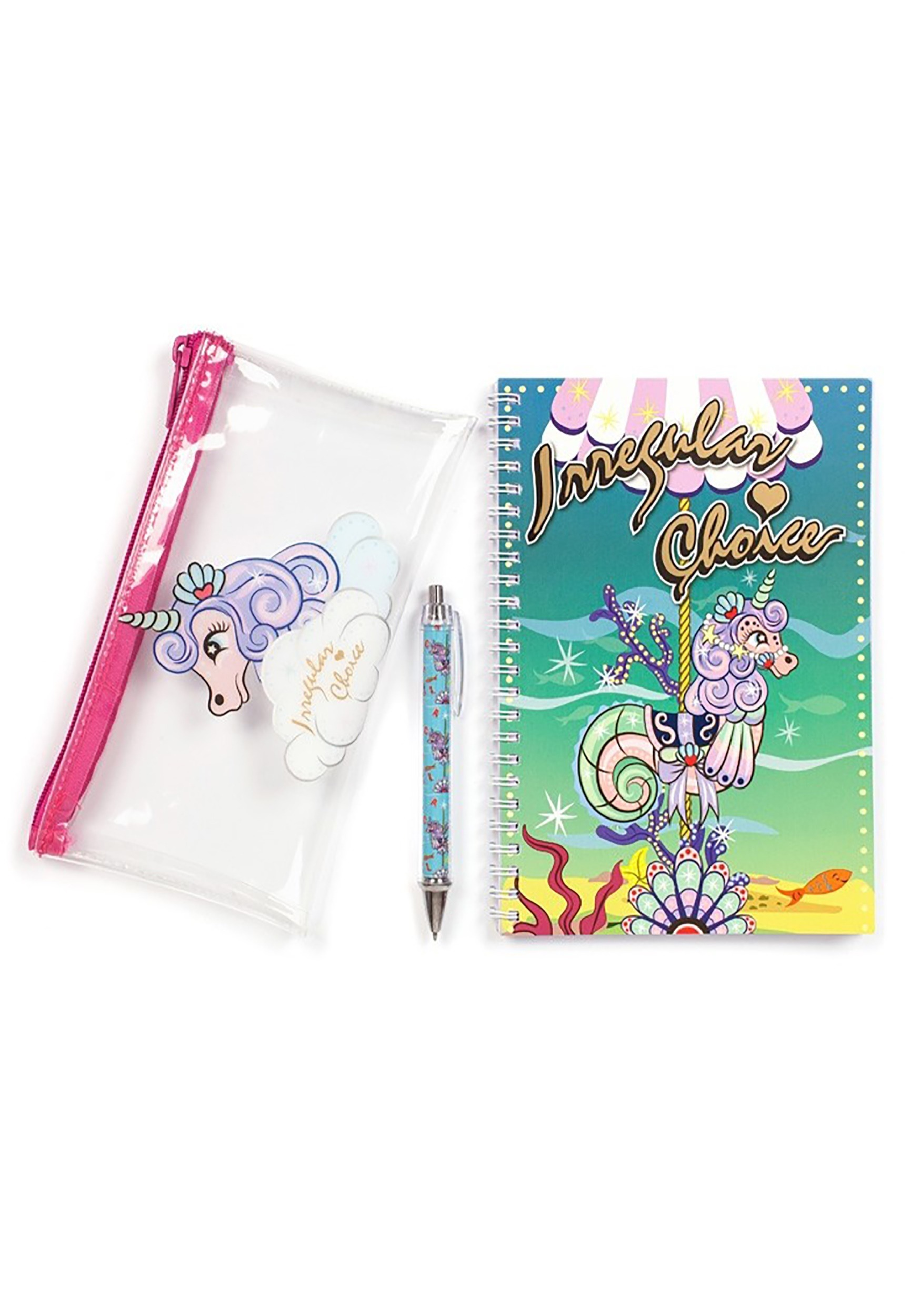 Irregular Choice Unicorn Stationery Set