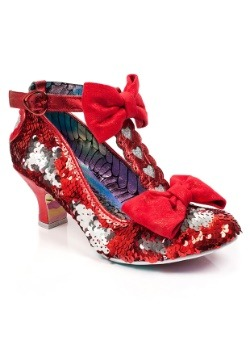 Irregular Choice Red Total Freedom Sequins & Heart Heels