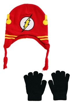 DC Comics Flash Knit Youth Hat with Gloves