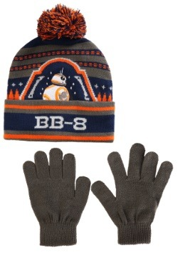Star Wars BB8 Boy's Knit Ski Hat with Gloves