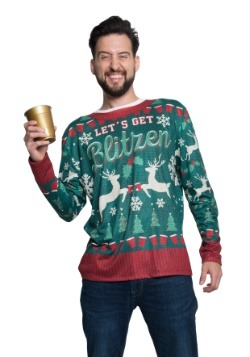 Xmas Blitzen Long Sleeve Ugly Christmas Tee