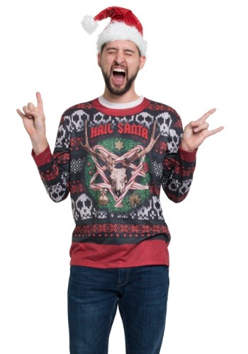 Hail Santa Long Sleeve Ugly Christmas Tee