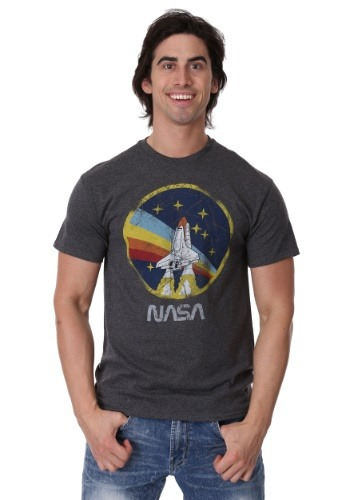 NASA Shuttle Rainbow and Stars Logo Men's T-Shirt